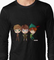 Peter Pan from OUAT, HOOK, & DISNEY by KlockworkKat Long Sleeve T-Shirt
