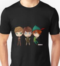 Peter Pan from OUAT, HOOK, & DISNEY by KlockworkKat Unisex T-Shirt