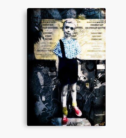 Boy with Hand Grenade Canvas Print