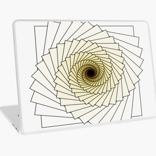 Yellowish Spiral Laptop Skin