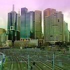 Melbourne Skyline by Tony Waite