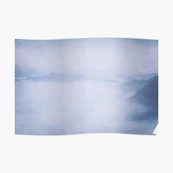 Sacred Cove Shrouded in Blue Mist Poster