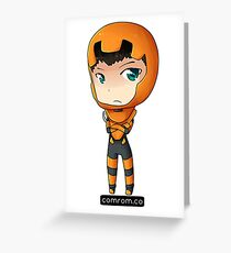 Ender Wiggen Chibi by KlockworkKat Greeting Card