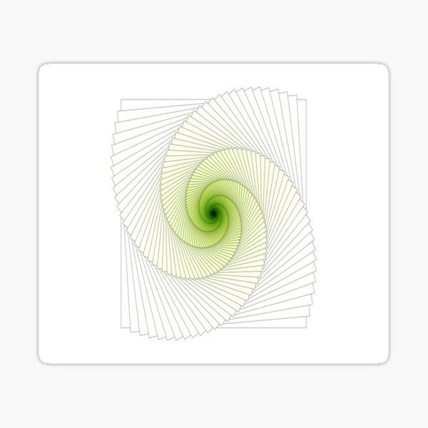 Greenish Spiral Sticker