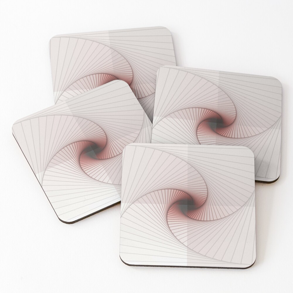 Burned Spiral Coasters (Set of 4)