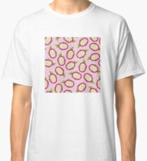 Dragon fruit on pink background Classic T-Shirt