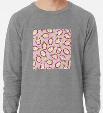 Dragon fruit on pink background Lightweight Sweatshirt