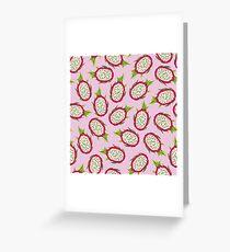 Dragon fruit on pink background Greeting Card