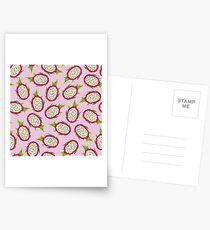 Dragon fruit on pink background Postcards
