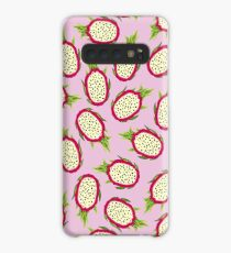 Dragon fruit on pink background Case/Skin for Samsung Galaxy