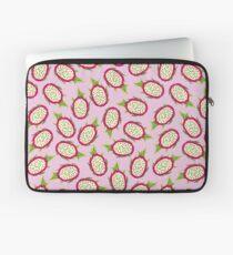 Dragon fruit on pink background Laptop Sleeve