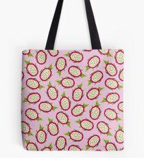 Dragon fruit on pink background Tote Bag