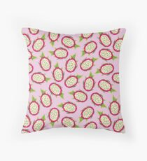 Dragon fruit on pink background Floor Pillow