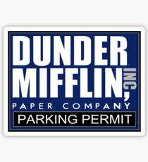 Dunder Mifflin - Parking Permit Sticker