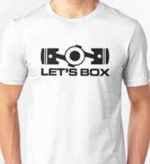 Lets Box - Subaru Boxer engine (White) T-Shirt