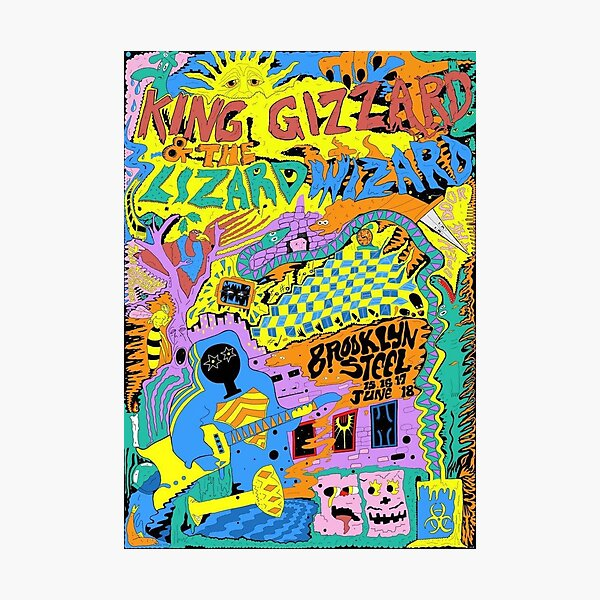 King Gizzard and the Lizard Wizard Brooklyn Gig Poster Photographic Print