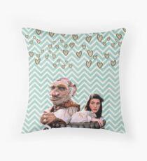 Labyrinth - Sarah and Hoggle Hearts Throw Pillow