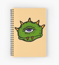 Halloween Gift - Friendly Cyclops - Area 51 Alien Spiral Notebook