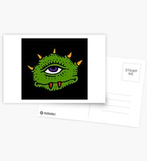 Halloween Gift - Friendly Cyclops - Area 51 Alien Postcards