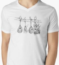 Oriole Nests - No place like home (white) V-Neck T-Shirt