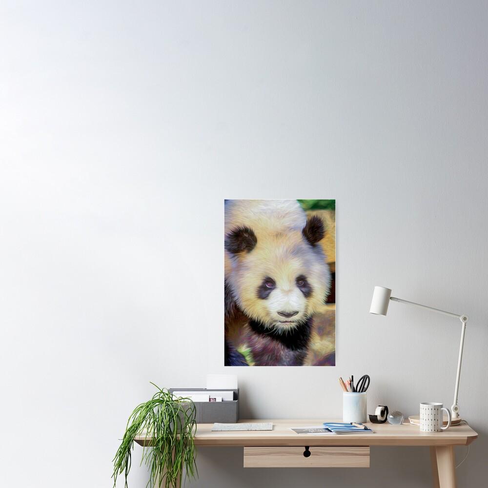 Giant Panda II  (digital painting) Poster