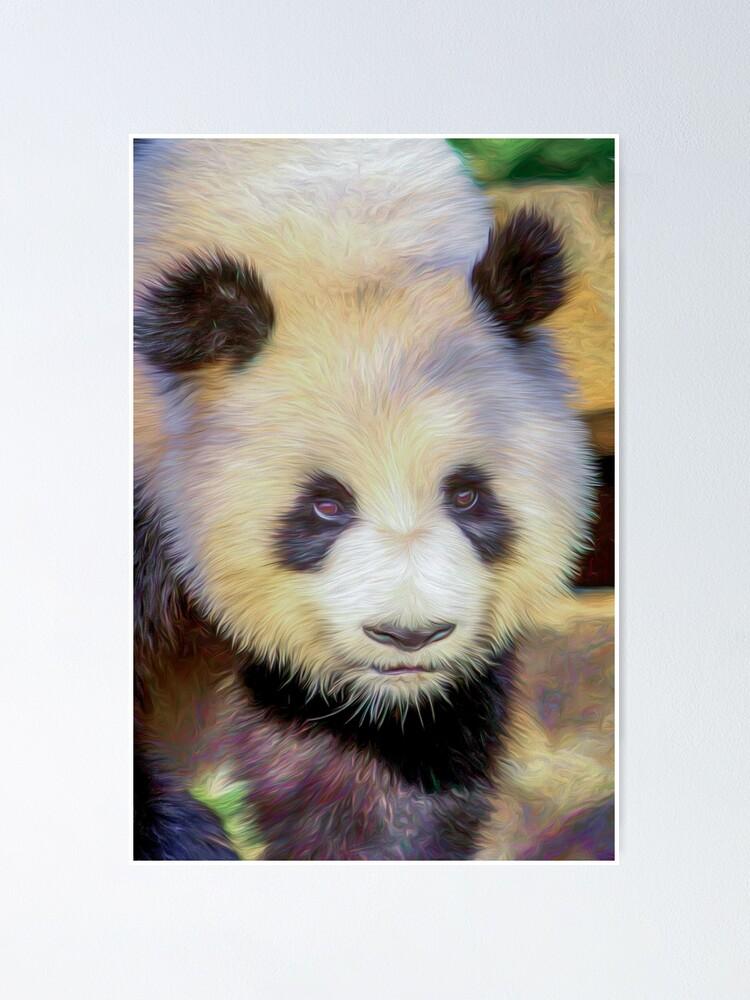 Alternate view of Giant Panda II  (digital painting) Poster