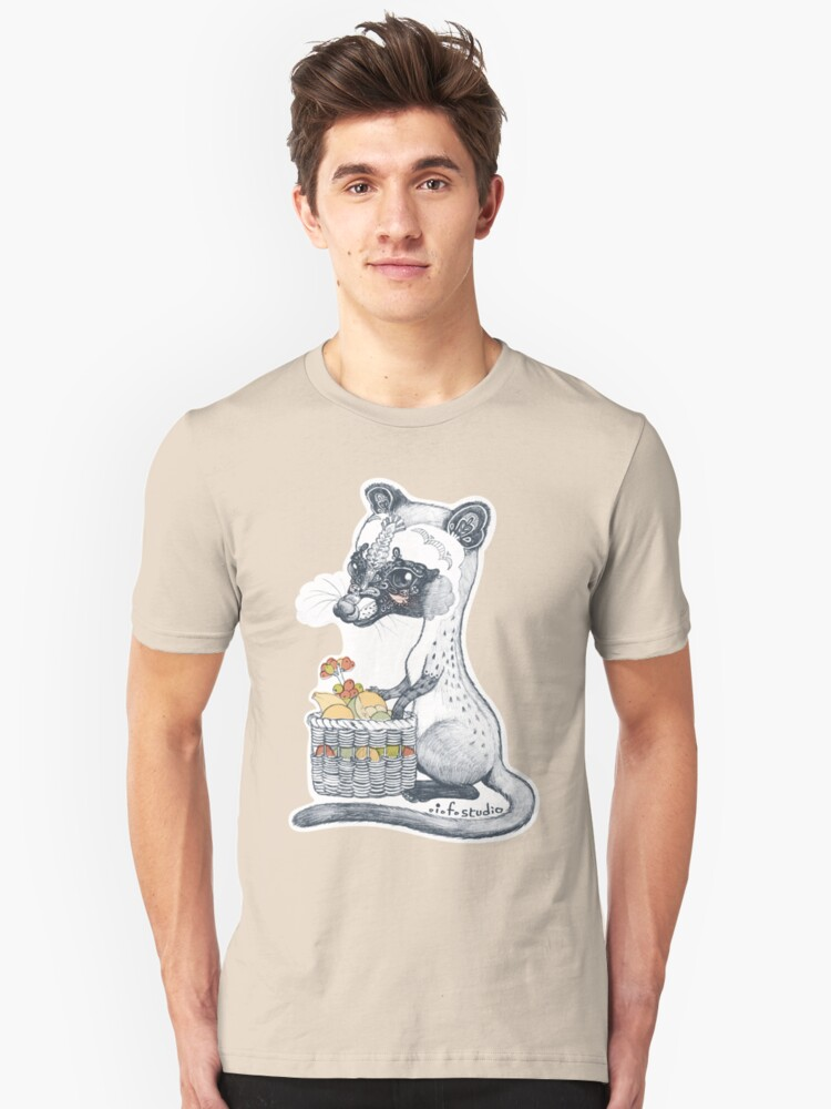 Alternate view of Eat Some Fresh Fruit - Asian Palm Civet - Green Slim Fit T-Shirt