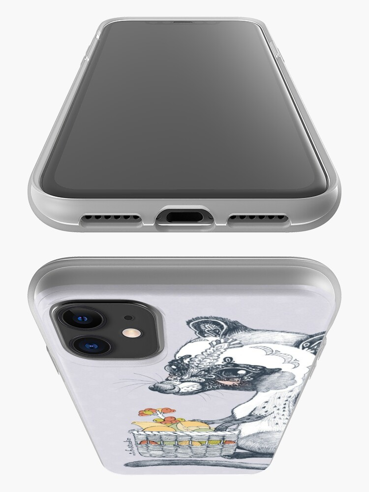 Alternate view of Eat Some Fresh Fruit - Asian Palm Civet - Gray iPhone Case & Cover