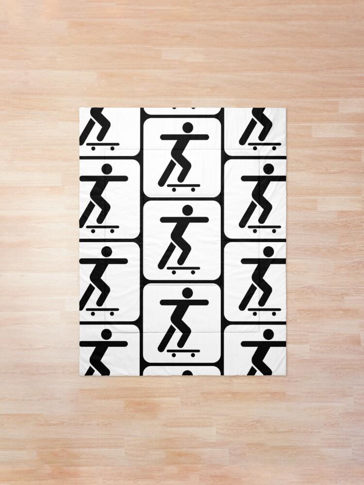 Alternate view of Skateboarder Sign Comforter