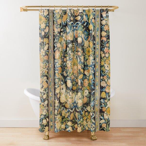 Louis XIV Savonnerie French Floral Carpet Print Shower Curtain