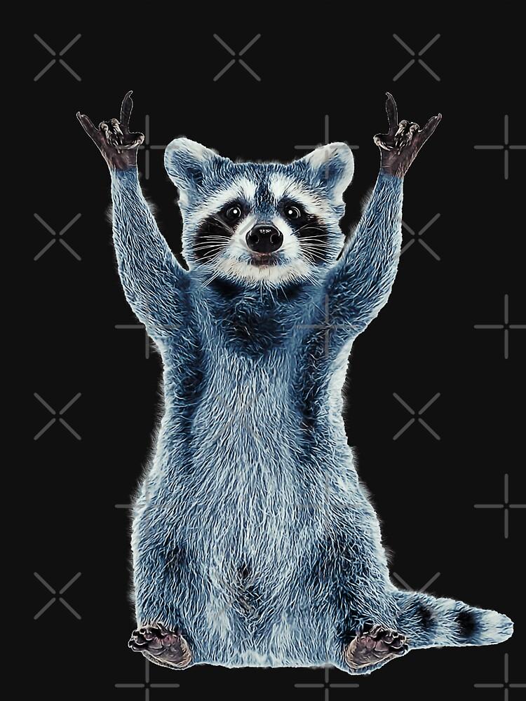 Raccoon Shirt-Cool Nature Raccoon Tee Cute Raccoon Classic by TeeARTHY