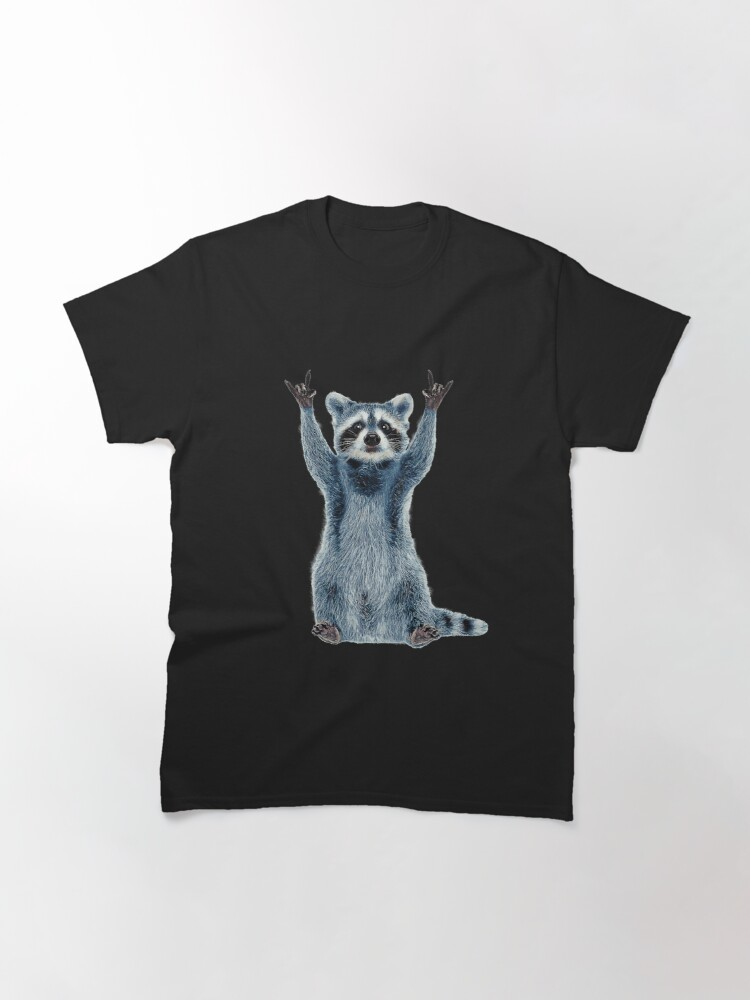 Alternate view of Raccoon Shirt-Cool Nature Raccoon Tee Cute Raccoon Classic Classic T-Shirt