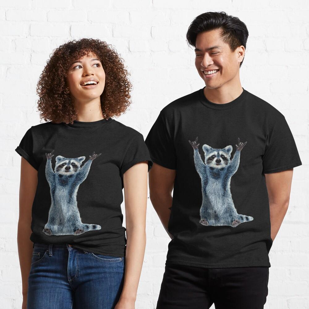 Raccoon Shirt-Cool Nature Raccoon Tee Cute Raccoon Classic Classic T-Shirt