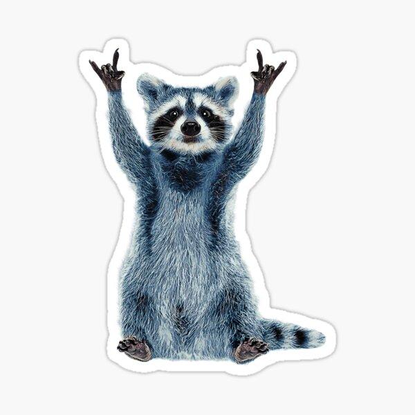 Raccoon Shirt-Cool Nature Raccoon Tee Cute Raccoon Classic Sticker