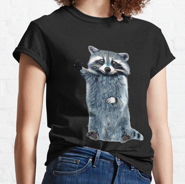 Raccoon Cute Girls Raccoon Shirt, Ladies Raccoon Shirt Trash Panda Classic T-Shirt