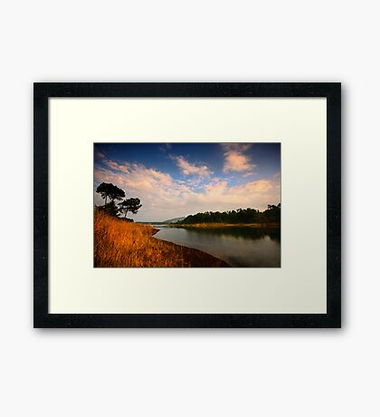 Late afternoon by Umiam Framed Print