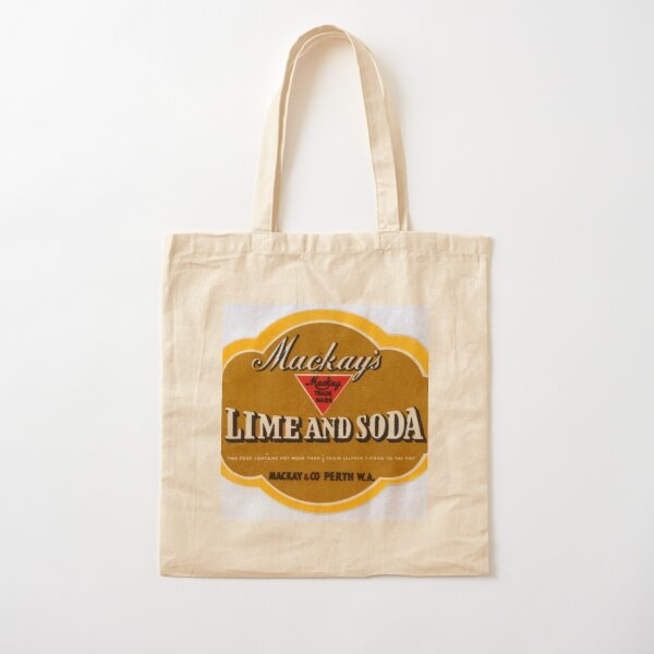Mackay's Lime and Soda State Library of Western Australia Cotton Tote Bag