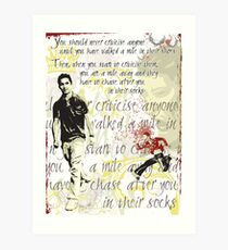 Walk a mile in my shoes Art Print
