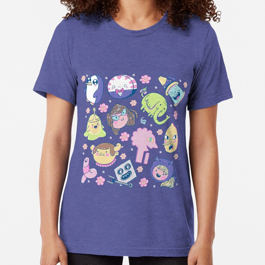 Adventure Time Friends 2 Tri-blend T-Shirt