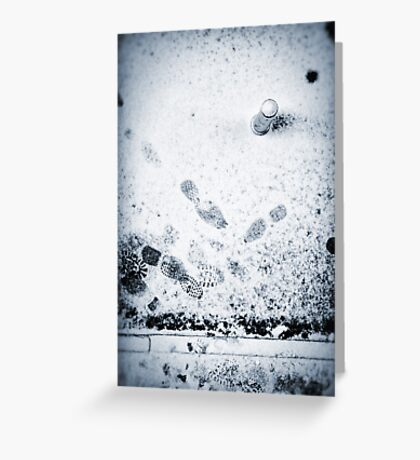 Pole and footprints Greeting Card