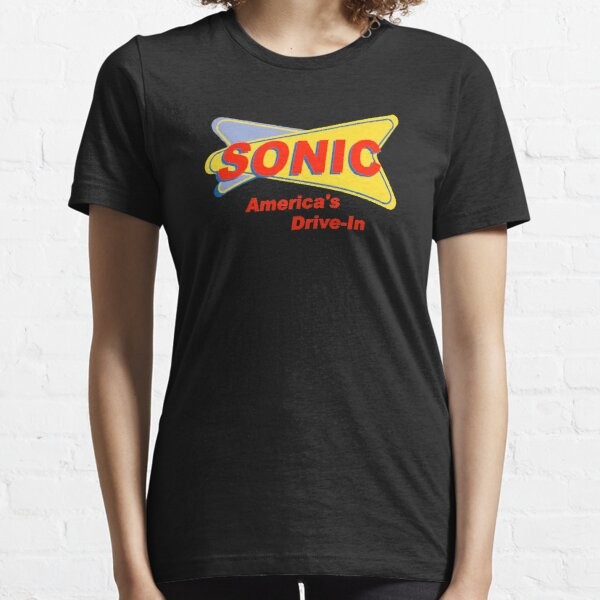 Sonic America's drive-in Fast Food Logo Red Essential T-Shirt
