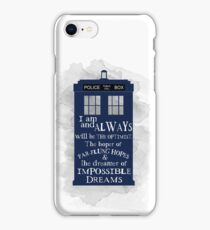 Dr Who - The Optimist quote  iPhone Case/Skin