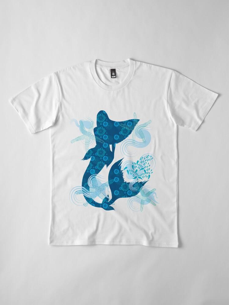 Alternate view of Mermaid Starfish Underwater Premium T-Shirt