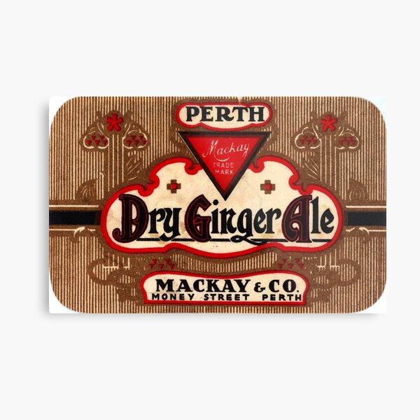 Mackay's Dry Ginger Ale State Library of Western Australia Metal Print