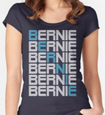BERNIE sanders textual stack Women's Fitted Scoop T-Shirt