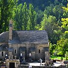 Saint Peter Church near Le Rozier, France by Marilyn Harris