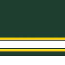 Green & Yellow Stripe Design by canossagraphics