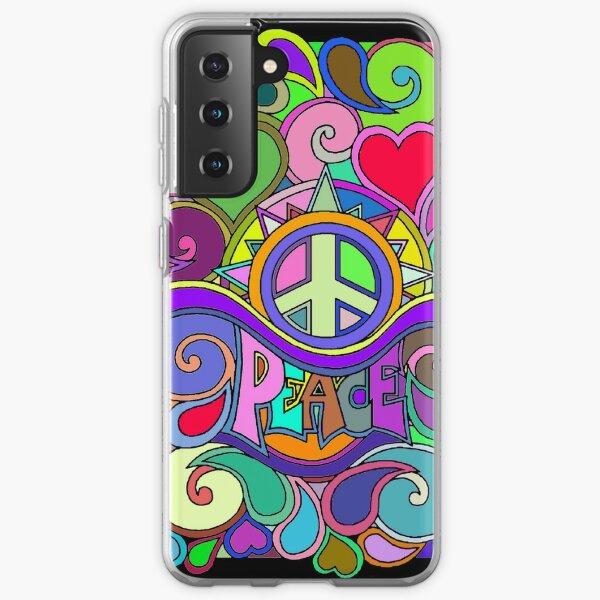 Colorful Trippy Hippy Art Samsung Galaxy Soft Case