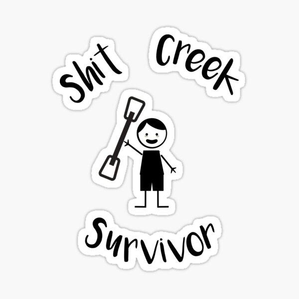 SH ** Creek Survivor Sticker Pagaie board design 180 mm