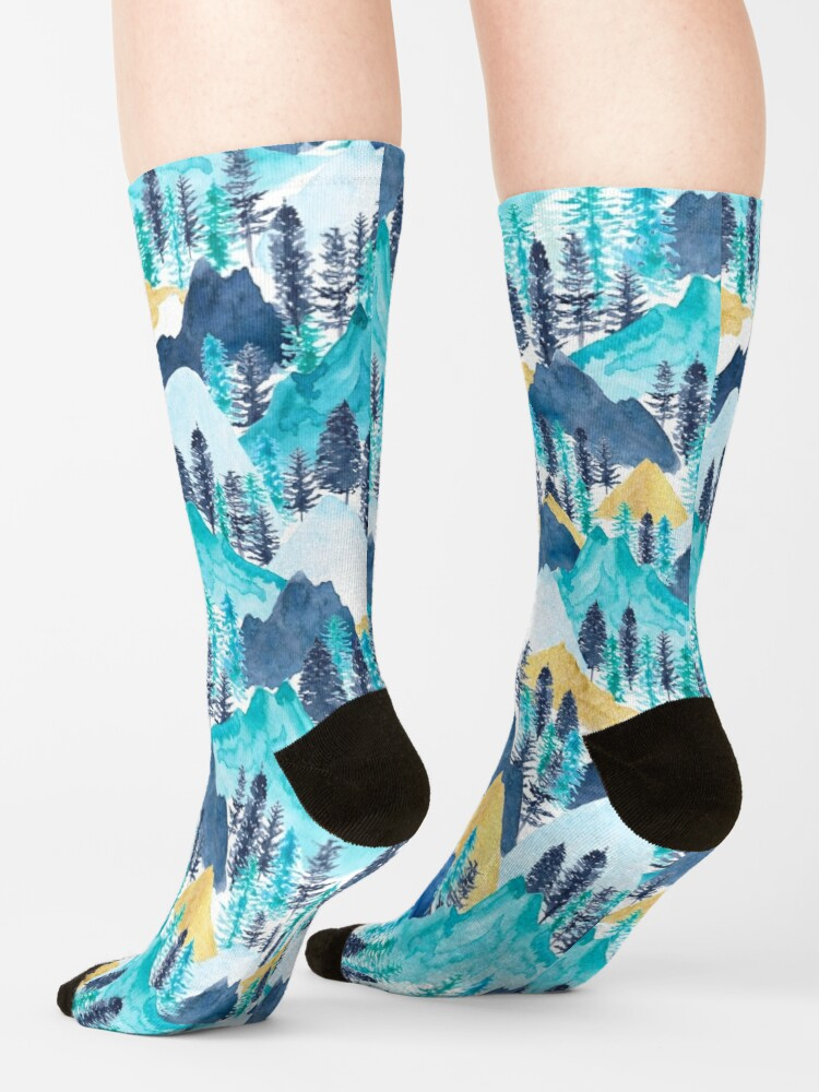 Alternate view of The Mountains Call Socks